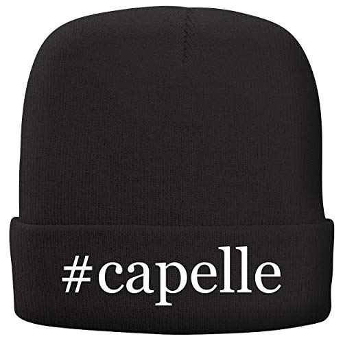 BH Cool Designs #Capelle - Adult Hashtag Comfortable Fleece Lined Beanie, Black