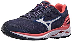 Mizuno Women's Wave Rider 21 Running Shoe Athletic Shoe, Patriot Bluewhite, 7.5 B Us