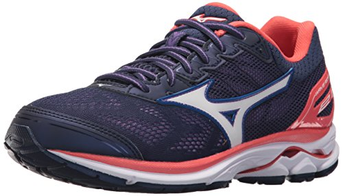Mizuno Women's Wave Rider 21 Running Shoe Athletic Shoe, Patriot Blue/White, 11.5 B US