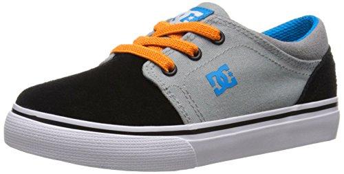 DC Trase Slip Youth Shoes Skate Shoe (Toddler), Armor/White/Orange, 5 M US (Armor Footwear)