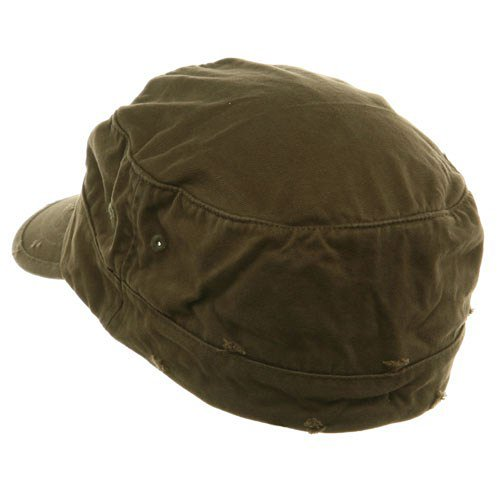 Cotton Army Cap Olive - 4