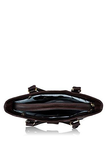 Butterflies Polyester Brown Handbag (BNS 0532 BN)