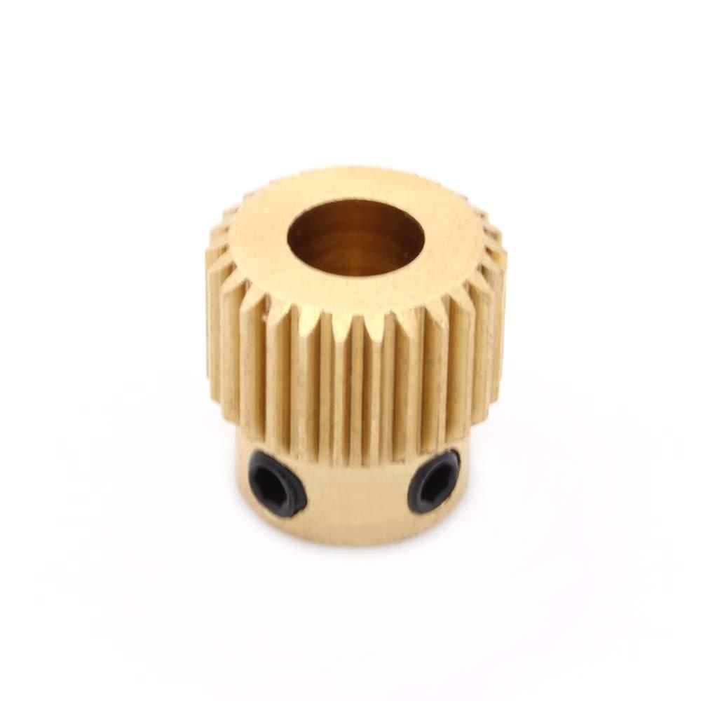 RoboMall Extruder Vorschubrad fü r 1, 75/3mm Filament 26 Zä hne