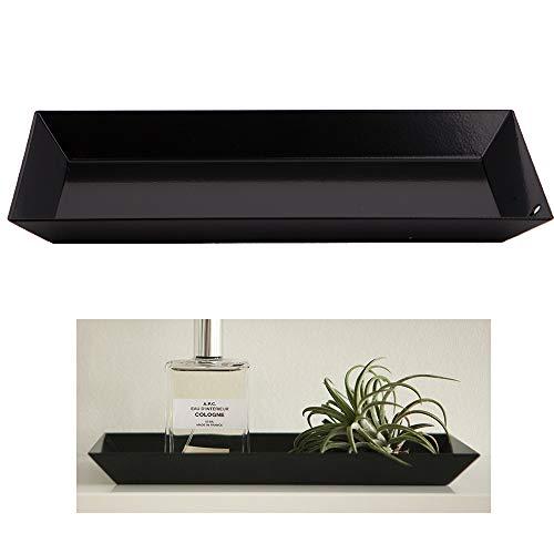 Cosmetic Vanity Tray Jewelry Perfume Key Steel Storage Organizer Desk Coaster Darkgray Art Deco Steel Vanity