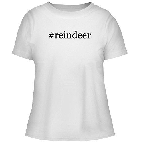 Reindeer Glass Spun (BH Cool Designs #Reindeer - Cute Women's Graphic Tee, White, X-Large)