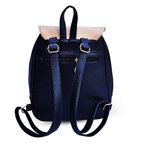 Black Woman Backpack black Bag Sfpong G72154a Orange BOfnAOqw