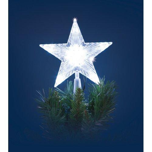 Stella Albero Di Natale Luminosa.Puntale 18h B Co Led 10l B O
