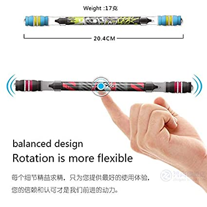 Non Slip Coated Spinning Ballpoint Pen Gaming Rolling Finger Rotating~STYLE