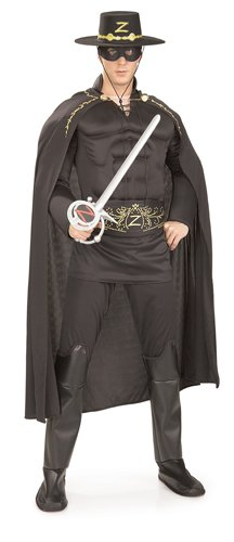Deluxe Adult Zorro Costumes (Deluxe Muscle Chest Zorro Adult Costume - X-Large)