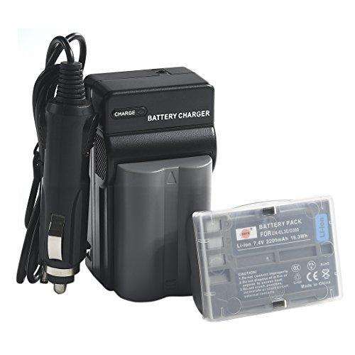 Pack Battery D70s (DSTE 2pcs EN-EL3E Li-ion Battery + Charger DC11 for Nikon D30 D50 D70 D70S D90 D80 D100 D200 D300 D300S D700 Digital SLR Camera)