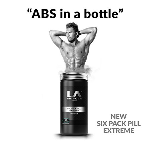 LA Muscle Six Pack Pill Extreme, Natural Ingredients, Safe For Men & Women, Pharma Grade, One Month Supply, Super Tummy Fat Eliminator, Metabolism and, Appetite Suppressant pills.