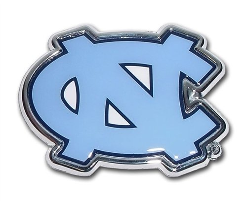 MVP Accessories North Carolina Tarheels Metal Auto Emblem with Colored Team Logo