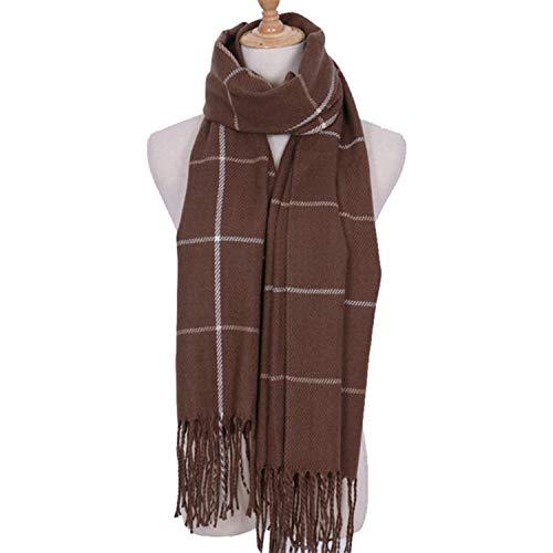 Cashmere Women Per Scarf Lattice Change Autumn Khaki Amdxd 200cm Winter 6qpwq