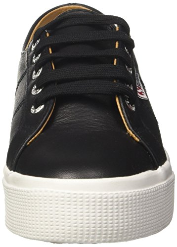 collections cheap price Superga Women's 2730-Nappaleau Trainers Black (Black-white C39) fast delivery for sale NoZA32FrT