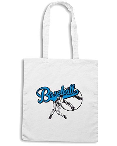T-Shirtshock - Bolsa para la compra T0266 baseball sport Blanco