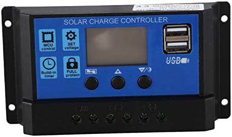 Tmand 10A 12V 24V Auto Arbeit PWM Solar Laderegler mit LCD Dual USB 5V Ausgang Solar Cell Panel Ladegeraet Regulato
