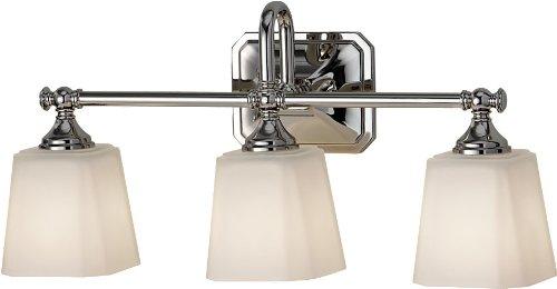 Feiss VS19703-PN Concord Glass Wall Vanity Bath Lighting, Chrome, 3-Light (21