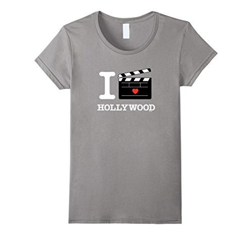 Womens I Love Hollywood T-Shirt, LA California Clapper Bo...