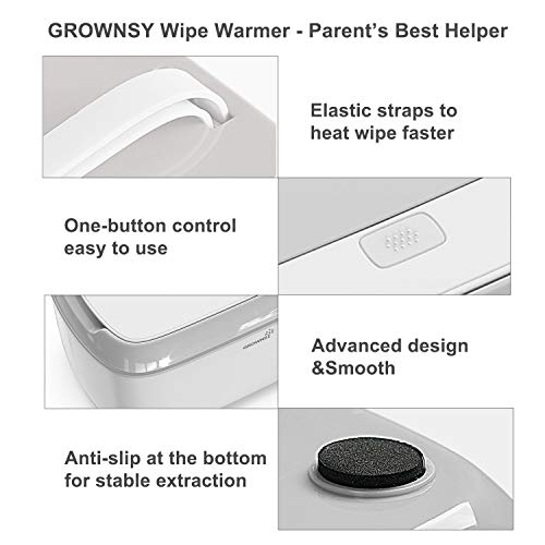 Wipe Warmer Baby Diaper Wipes Dispenser Holder BPA-Free with Precise Temperature Control, Evenly and Quickly Top Heating, Large Capacity, Silent for Baby, Perfect Warmth