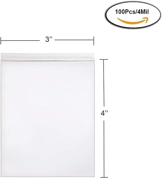 "200 9 x 12/"" 4Mil Clear Reclosable Resealable Ziplock Zipper Poly Plastic Bags"