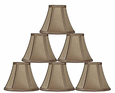 Urbanest 6-inch Chandelier Lamp Shade, Taupe