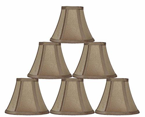 "Urbanest Chandelier Mini Lamp Shade,Softback Bell,Silk,3""x6"""