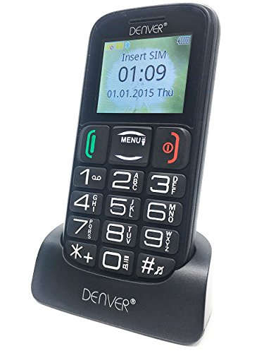 Denver GSP-110 Big Button Mobile Phone For Elderly - Unlocked Senior Mobile...