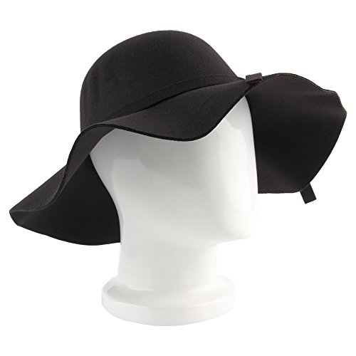 Winter Spring Fedora Hat Vintage Women Wool Felt Wide Brim Bowler Jazz Church Cloche Cap Chapeu Sombreros Lana Gorros (Felt Sombrero)