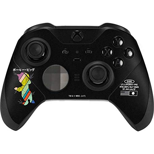 Skinit Decal Gaming Skin for Xbox Elite Wireless Controller Series 2 - Officially Licensed Warner Bros Porky Pig Sliced Juxtapose Design