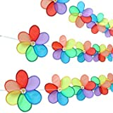 Camping Tent & sunshade - Camp 8 Flowers Colorful Rainbow Dazy Spinner Windmill Lanyard Flags Tent Yard Outdoor - 1 x 8 Flowers Spinner