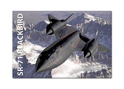Lockheed SR-71 Blackbird Aircraft Fridge Magnet ()