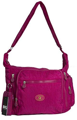 Rosa Handbag Big Brillante tela Shop One mujer para Bolso cruzados de zH7FqHw