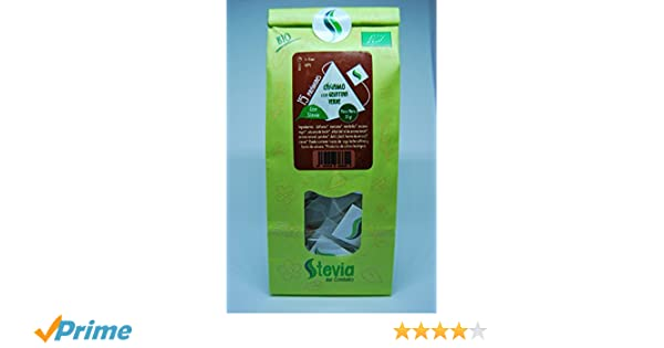 Cáñamo Gelatina Verde con Stevia 15 Pirámides | Stevia del Condado: Amazon.es: Alimentación y bebidas
