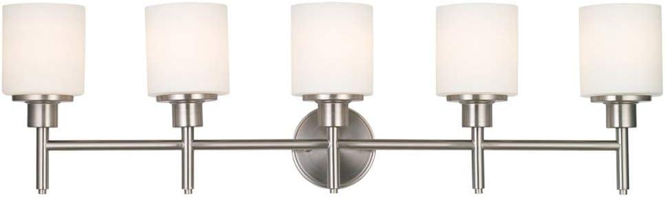 Satin Nickel Design House 556225 Aubrey 5 Light Vanity Light