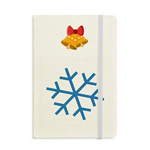 Winter Sport Snowflake Blue Silhouette Notebook Journal Christmas Jingling Bell