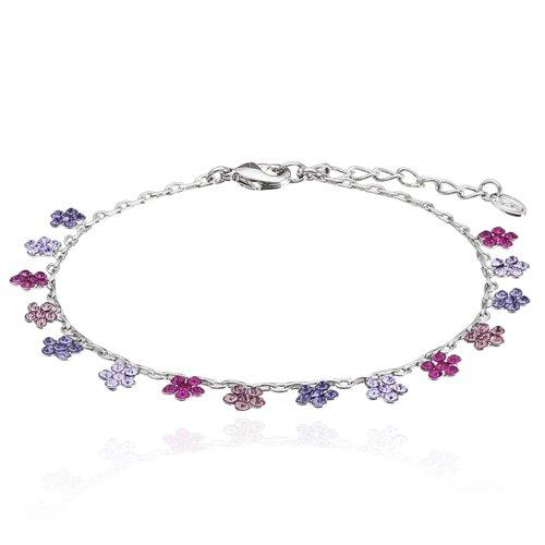 Amazon.com  Womens Daisy Flower Charms Amethyst 99f0b451ee3e