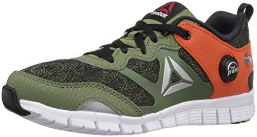 - Reebok Zpump Instinct WW-K Track Shoe, Canopy Green/Black, 2.5 M US Little Kid