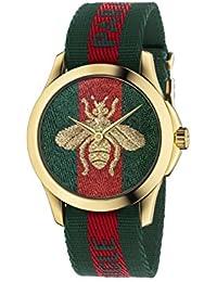 Quartz Gold and Nylon Casual Watch, Color(Model: YA126487)
