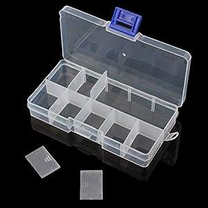 OriGlam Fishing Tackle Box Organizer, Fish Tackle Storage Plastic Box Kit with Adjustable Dividers,...