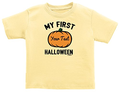 Customized Baby Halloween Costumes Personalized Baby Name First Halloween Infant T-Shirt 6 Months Banana ()
