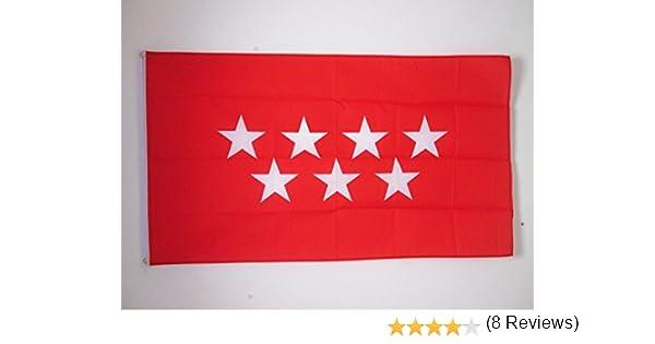AZ FLAG Bandera de la Comunidad DE Madrid 150x90cm - Bandera ...
