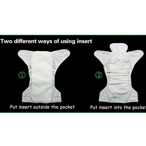 Bebé Pañales de tela reutilizables Un tamaño de bolsillo, 6 pc + 6 inserciones de color: Kitty: Amazon.es: Bebé