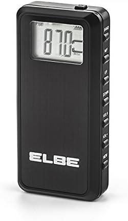 Elbe RF-70 Radio de Bolsillo Digital, Radio Am/FM, Stereo PLL, Memoria 60 emisoras, función Sleep, función Hold, Pantalla Digital, Auriculares incluidos, Color Negro: Amazon.es: Electrónica