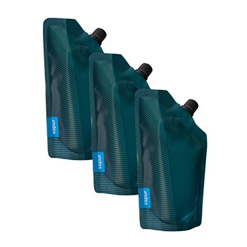 vapur-incognito-300ml-collapsible-flask-teal-3-pack