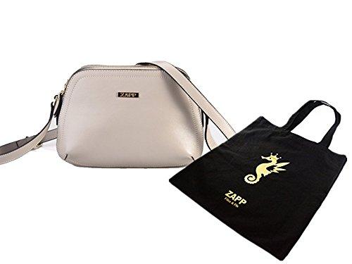 ZAPP- 'Thrice' bolso de cuero de grava (colore: grigio)