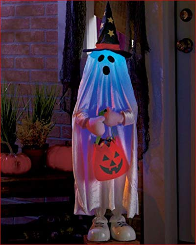 BATTERY OPERATED HALLOWEEN PROP DOOR GREETER PORCH GHOST TRICK OR TREATER -