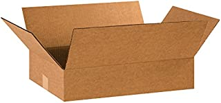 """product image for Partners Brand P1812475PK Flat Corrugated Boxes, 18"""" L x 12"""" W x 4"""" H, Kraft (Pack of 75)"""