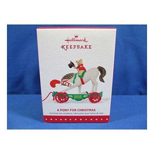Soko Accents - 2015 HALLMARK ORNAMENT A PONY FOR CHRISTMAS 18TH IN SERIES SHOW HORSE BEARNEW