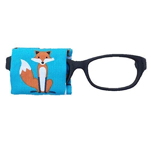 Eye Patch kids glasses - BLUE FOX - baby child adult eye patch - Vision Lazy eye therapy patch