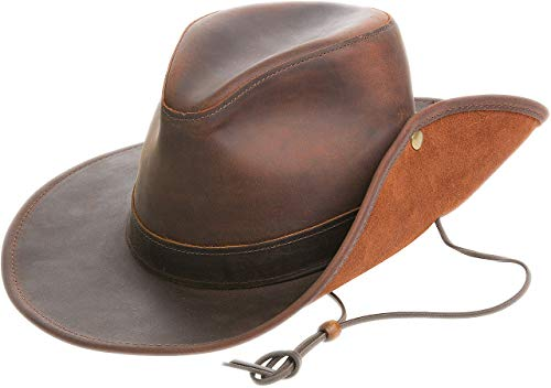 (Aussie Distressed Leather Outback Hat)